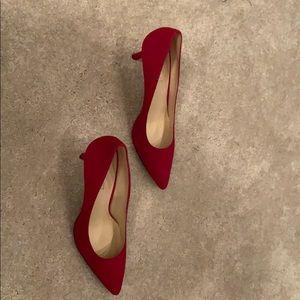 Red Nine West Heels